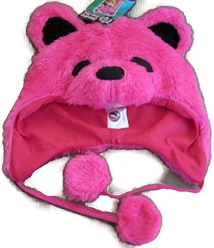 Grateful Dead Bear Fuzzy Hat Color: Pink