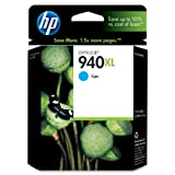 HP 940XL Cyan High Yield Original Ink Cartridge (C4907AN) for HP Officejet Pro 8000 8500