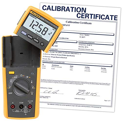 Fluke 233 Remote Display Multimeter with a NIST-Traceable Calibration Certificate with Data