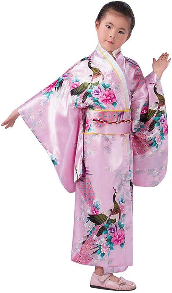 VJGOAL Toga de Kimono para niña Traje de Cosplay de impresión de ...