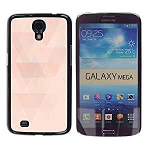Paccase / SLIM PC / Aliminium Casa Carcasa Funda Case Cover para - Polygon Peach Pink Pattern Light Minimalist - Samsung Galaxy Mega 6.3 I9200 SGH-i527
