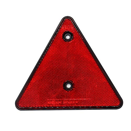 (Carrfan Light Reflector Triangular Red, Safety Warning Triangle for Trailer Truck Bus)
