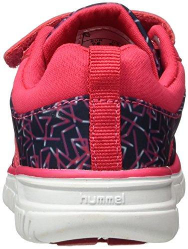 Hummel Crosslite Print Sneaker Jr, Zapatillas Deportivas para Interior para Niñas Rosa (Virtual Pink)
