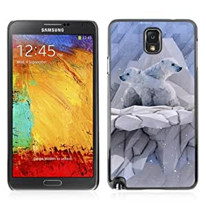 YOYOSHOP [Cool Polygon Polar Bear] Samsung Galaxy Note 3 Case