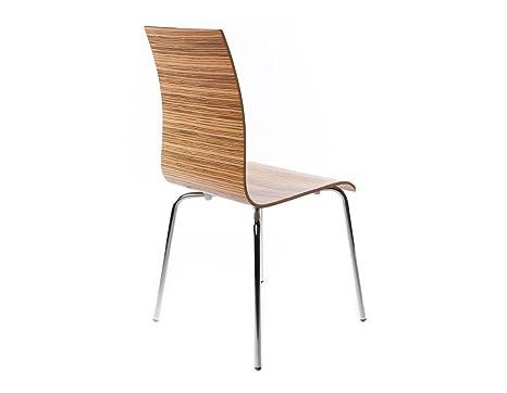 Kokoon design sedia moderna economica in legno zebrano amazon
