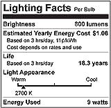 TCP 9W LED Light Bulbs (60 Watt Equivalent), A19