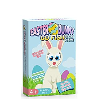 Easter Bunny Go Fish Card Game for Kids - Play Go Fish, Old Maid, and Slap Jack - 3 Fun Classic Kids Games in 1 Easter Themed Deck - Ideally Sized for Use as Easter Basket Stuffers