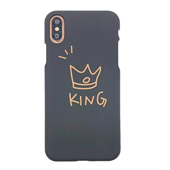 4e7fdf117e Image Unavailable. Image not available for. Color: Cartoon Letters Boos  Queen King Phone Case for iPhone 5 5S Se 6 6S 7 8