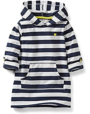 Navy White Stripe Yellow Heart Pullover-3 Months