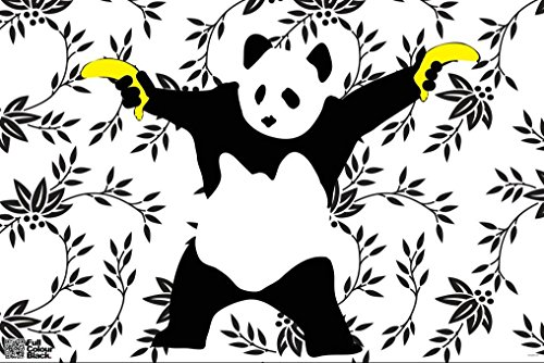 Panda Bananas Banksy Poster 18x12 product image