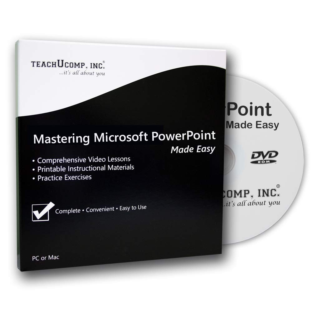 Mastering Microsoft PowerPoint 2016 through 2013 Made Easy - DVD-ROM Training Tutorial Video Course with Exam and Certificate of Completion by TeachUcomp, Inc.