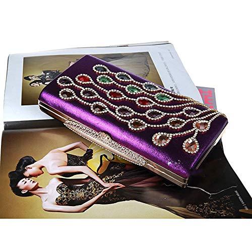La De Color Main Sac de Paillettes De Gold À Prom Mariée Mariage Soirée Purple Pochette Soirée Mousseux discothèques Mariage Bling Fête Élégant pour Sacs pour De d'embrayage OwxqSwZP