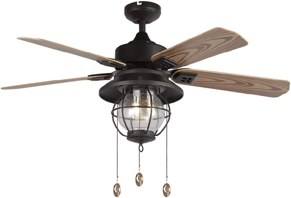 Hogar Ventilador Techo A prueba de lluvia Luz de ventilador de ...