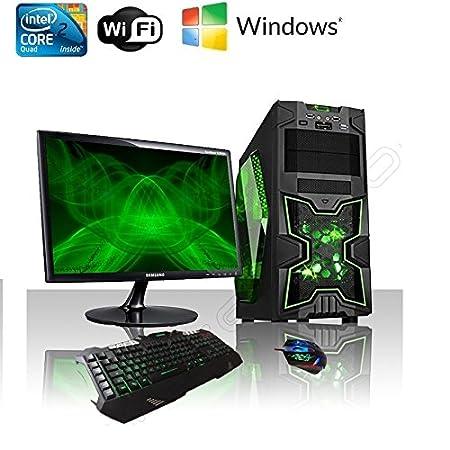PC DESKTOP GAMING INTEL QUAD CORE WIFI/HD 1TB SATA III/RAM 8GB 1600MHZ/HDMI-DVI-VGA/USB 2.0 3.0 SD CARD/MONITOR 22 LED HD SAMSUNG VGA ATTACCO VESA/TASTIERA E MOUSE GAMING PC FISSO COMPLETO PRONTO ALL'USO GIOCHI,UFFICIO,GAMING ITEK NINJA