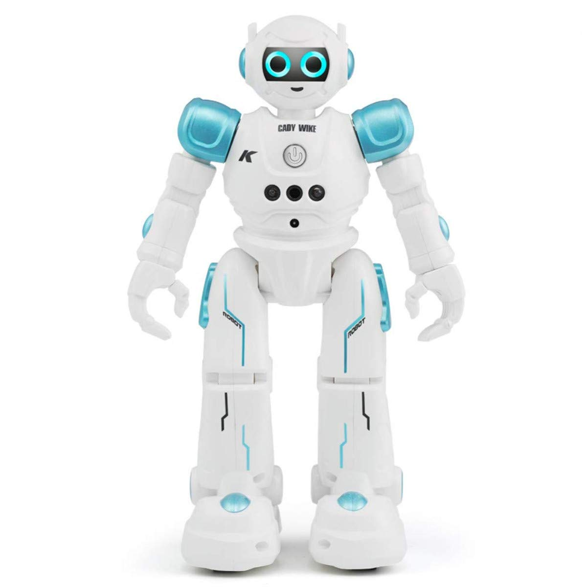 WEECOC Smart Robot Toys Gesture Control Remote Control Robot Kids Toys Birthday Can Singing Dancing Speaking Two Walking Models (Blue) by WEECOC (Image #2)