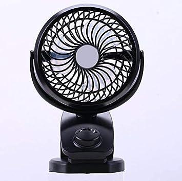 Black HJIAN Clip-on Stroller Fans Mini USB Desk Clip Fan Rechargeable 4400mA Battery Portable Cooling Fresh Air Fan Table Fan for Office Outdoor Camping Travel Car Gym Dysney Zoo Trip