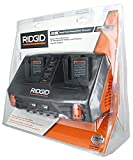 Ridgid AC840094 Gen5X Dual Port 18V Lithium Ion and NiCad Battery Charger with Pass-Through AC Ports and USB Charging (Batteries Not Included, Charger Only) (Certified Refurbished)