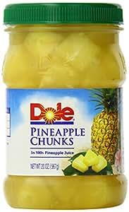 Dole Pineapple Chunks, 20 Ounce (Pack of 4)