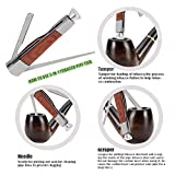 Scotte Luxury Tobacco Smoking Pipe Set,Leather