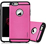 6s Plus Case, iPhone 6 Plus&6s Plus Case - TURATA [Heavy Duty] Dual Layer Air Cushion Hard Plastic TPU Protective Case Bumper with Dust Plug Design for iPhone 6 Plus&6s Plus (5.5 inch) - Hot Pink