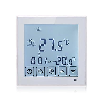 beok tds23-wp – Termostato programable pantalla táctil Controlador de temperatura con sensor externo de