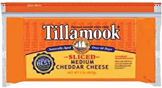 product image for Tillamook Sliced Medium Cheddar Cheese, 2 Pound -- 12 per case.