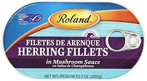 Roland Herring Fillets, Mushroom Sauce, 7 Ounce (Pack of 6)