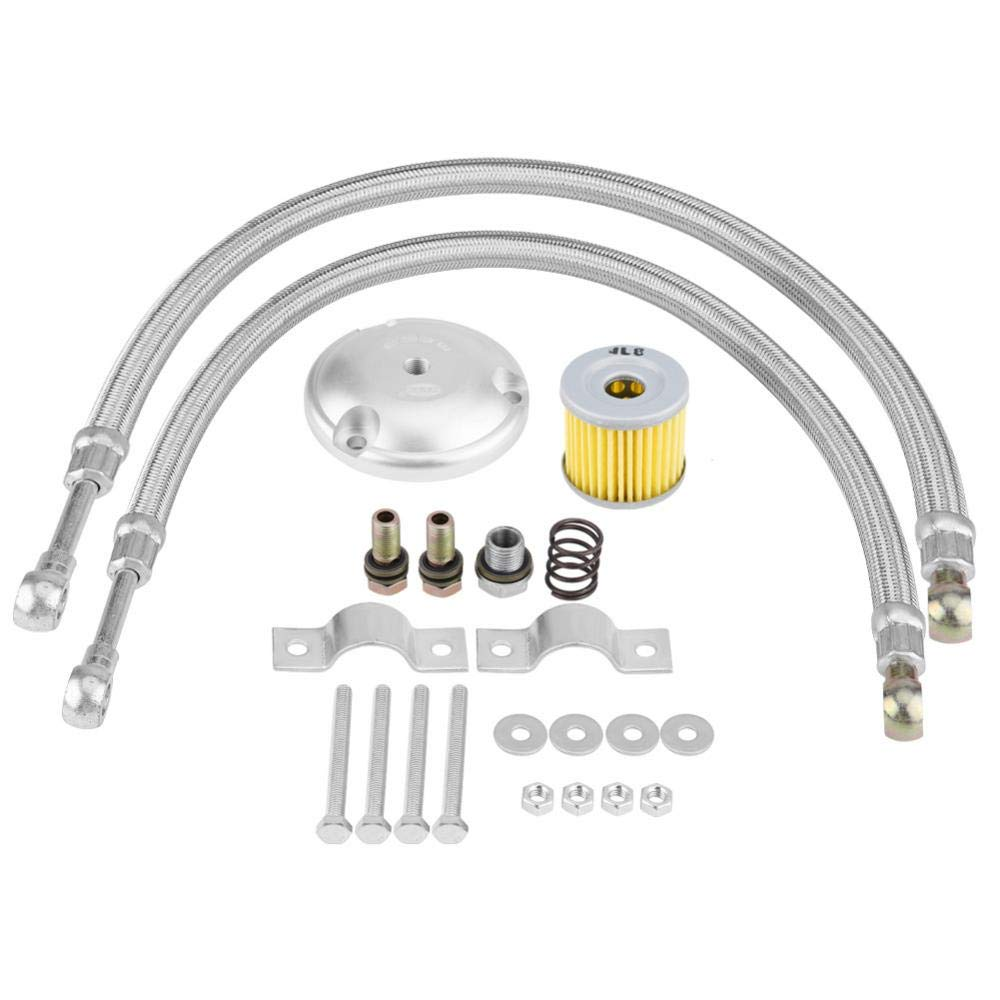 Kit de enfriador de aceite para motocicleta 125ml, Kit de sistema de radiador del enfriador de aceite del motor para 125CC 150CC 200CC: Amazon.es: Coche y ...