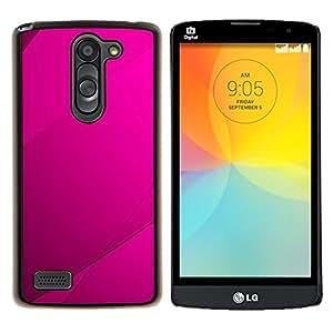 Purple Azulejos- Metal de aluminio y de plástico duro Caja del teléfono - Negro - LG L Prime / L Prime Dual Chip D337