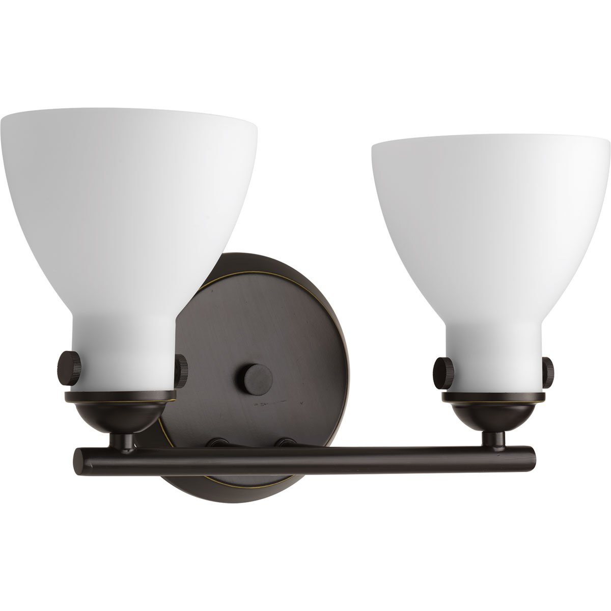 Antique Bronze HI Progress Lighting P2771-20 Contemporary//Soft 2-100W Med Bath Bracket Progress Lighting