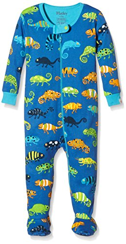 Hatley Baby Crazy Chameleons Footed Coverall, Blue, 3-6 Months