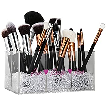 Makeup Brush Holder & Makeup Organizer with Diamond Beads: Make Your Vanity  Look Special Now