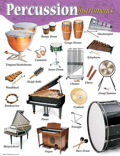 Music Treasures Co. Percussion Instruments Poster Pack of 2