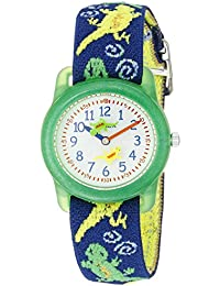 Kids T72881 Lizards Watch with Multi-Colored Elastic Fabric Strap
