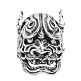 Bishilin Rings for Men Silver Plated Skull Partner Rings Silver Size 9