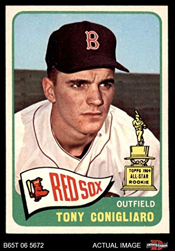 1965 Topps # 55 Tony Conigliaro Boston Red Sox (Baseball Card) Dean's Cards 6 - EX/MT Red Sox