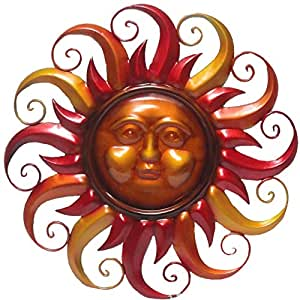 Amazon Com Very Cool Stuff Flaming Sun Face Wall Art 20