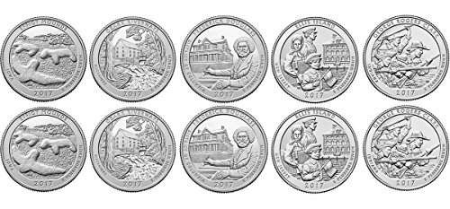 Quarter 10 Coin (2017 P, D BU National Parks Quarters - 10 coin Set Uncirculated)