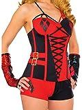 Rubie's Women's DC Comics Harley Quinn Deluxe Corset, Small/Medium