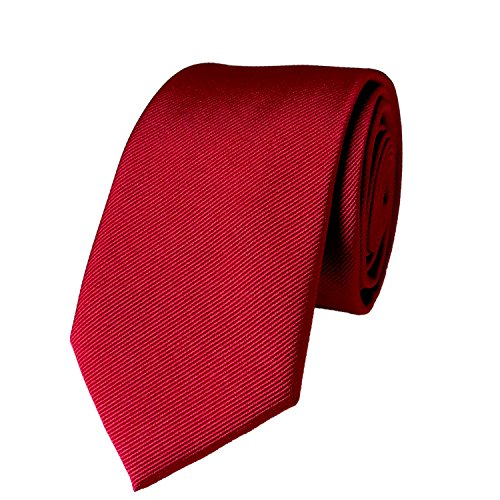 """100% Silk Solid Skinny Tie Necktie for men Handmade Solid Mens Skinny Neck Tie with Gift Box by WITZROYS,2 3/4""""(7CM) from WITZROYS"""