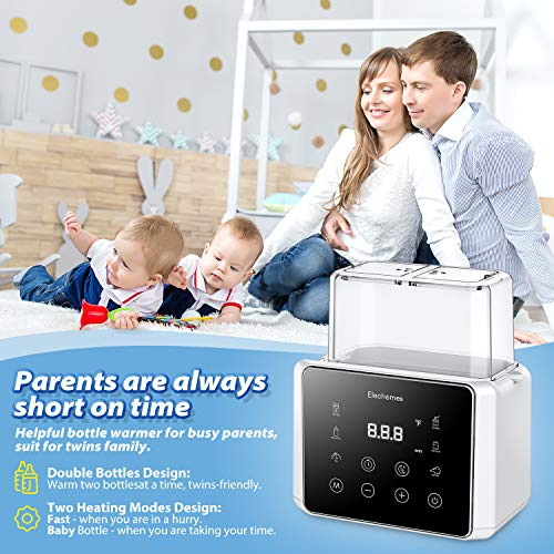 Elechomes Fast Baby Bottle Warmer for Frozen Breast Milk & Formula, 6-in-1 Baby Food Heater & Steam Sterilizer with Timer and Safe Auto-shutoff, BPA-Free, Fits Most Brands of Bottles & Jars