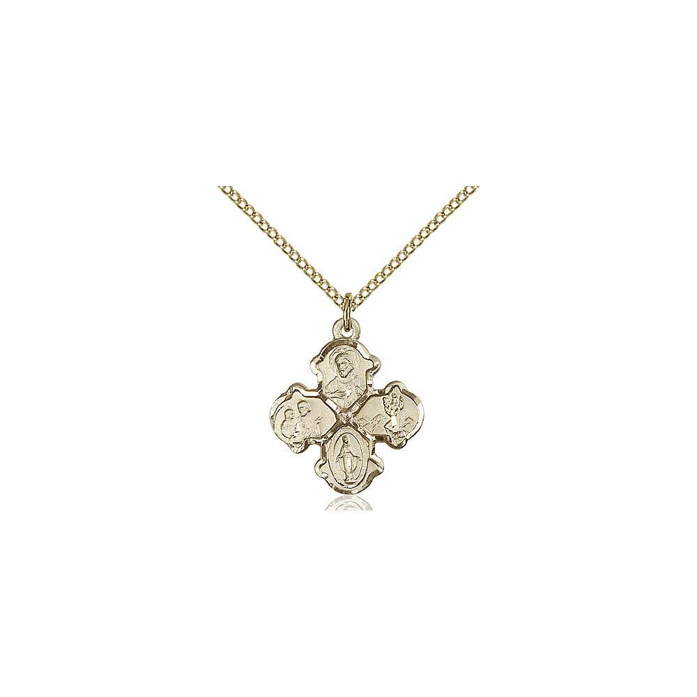 DiamondJewelryNY 14kt Gold Filled 4-Way Pendant
