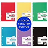 """Mead Spiral Notebook, 1 Subject, Wide Ruled Paper, 70 Sheets, 10-1/2"""" x 7-1/2"""", Color Selected For You (05510)"""