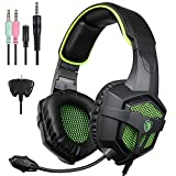 Sades SA-807 Gaming headset Gaming Headphone with Microphone For PS4/Xbox 360 /PC /Laptop/ Cellphone Black Green