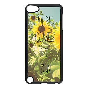 Here Comes The Sun DIY Case for Ipod Touch 5, Custom Here Comes The Sun Case