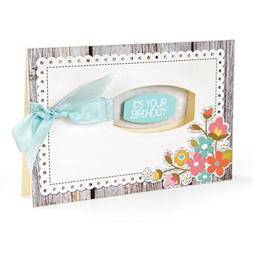 Framelits Stamp (Sizzix Framelits Dies with Clear Stamps, Phrases, 12/Pack)
