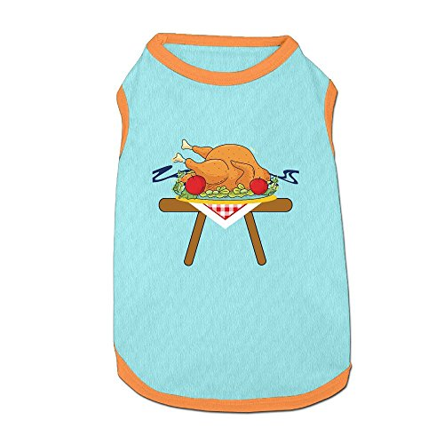 Pink Sky Cute Thanksgiving Roast Turkey Dog Clothes Costume Small Dog Cat Pet Clothing Puppy T Shirt Apparel Dog Warm Outwear