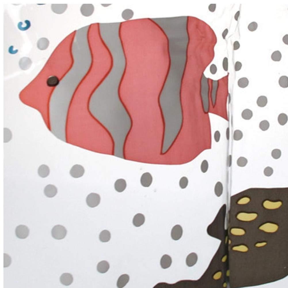 Oulensy Impermeable de PVC Transparente de ba/ño Cortina de Ducha sin Fin Impresas Impermeables Cortinas Moldproof para el hogar del Hotel Ba/ño Cortina 180x200cm
