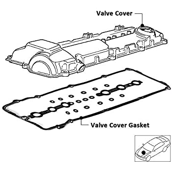 Amazon Com Bmw Engine Valve Cover Gasket Set 15 Grommet Seals