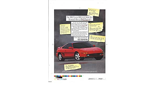 LargePRINT AD For 1991 Red Toyota MR2 If It Were Any Slower It Would Be A Fe... at Amazons Entertainment Collectibles Store